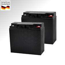 2x 12V Batterie für Rasenmäher Robomow RL550 Mähroboter WARTUNGSFREI Gel Akku