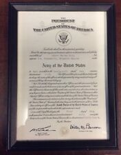 1960 US Army Brigadier General Rank Promotion Certificate Historical Document