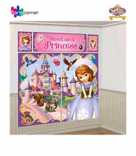 SOFIA THE FIRST BIRTHDAY PARTY SUPPLIES SCENE SETTER WALL DECORATING KIT