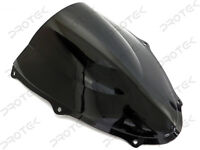 ABS Smoke Black Double Bubble Windscreen Windshield for 1998-2003 Suzuki TL1000R