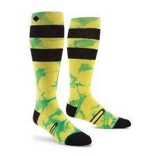 STANCE Premium Snowboard YELLOW NEON Socks BURNER Merino Wool NEW Men Sm/Med