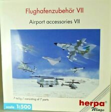 Herpa 519779 Set of 7 Military Aircraft 1/500 scale Airport Accessories