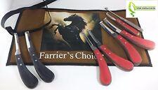 Hoof Knives Knife Wood Farrier Equine Tack Sharp Sheep Goat Hand Crafted Kit Set