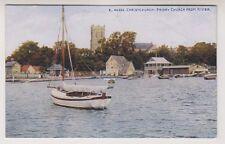 Dorset/Hants postcard - Christchurch Priory Church from River