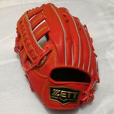 "Zett Bpgt-3938 Pro Model Red13"" Leather LeftHandedThrower OutfieldBaseball Glove"
