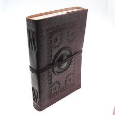 Commerce équitable de Indra XL en relief cuir lapidé Journal 2e qualité