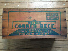 Vintage Libby's Corned Beef Wooden Box From Argentina