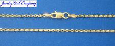 "14K Solid Yellow Gold Diamond Cut Boston Link Chain 20"" 3.2grams 1.4mm (040)"