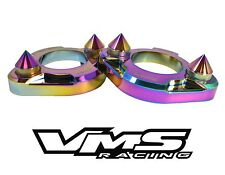 2 NEO CHROME VMS RACING SPIKE STRUT TOWER SUPPORT BRACES 90-93 ACURA INTEGRA DA9