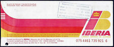IBERIA AIRLINES SPAIN AVIATION PASSENGER TICKET 1994