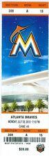 2012 Marlins vs Braves Ticket: Josh Johnson 9 Ks Win/Emilio Bonifacio HR