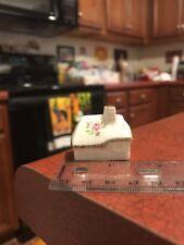 Miniature English Thatch Cottage Rose Ceramic China House Figure Free Shipping