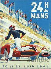 VINTAGE LE MANS 1959 RACING A4 POSTER PRINT