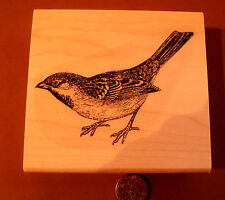 "Sparrow 3.25x2.4"" WM Rubber Stamp"