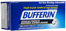 Bufferin Regular Strength Aspirin 325mg Tablets 130 ct Pain Reliever