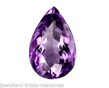 Natural Amethyst Pear Shape 15mm x 10mm Gem Gemstone