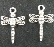 80pcs Tibetan Silver Dragonfly Charms 22x14mm 11441