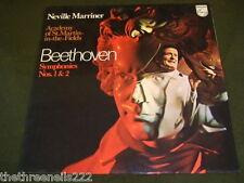 VINYL LP - NEVILLE MARRINER - BEETHOVEN 1 &2 - 6500 113
