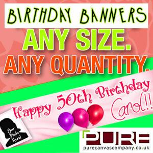 Happy Birthday Celebration Personalised BANNER