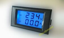 AC 300V 50A LCD Amp Volt Dual Display Panel Meter With Current Transformer MZ