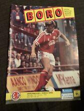 1992 Middlesbrough V  Ipswich Town Football Programme