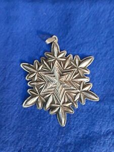 2003 Waterford Sterling Silver Christmas Snowflake Ornament