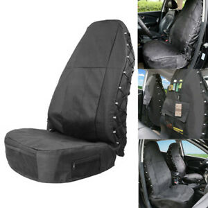 Waterproof Car Driver Seat Cover Protector W/Storage Mesh Bags Pockets
