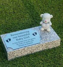 Personalised Granite Memorial Plaque Baby Grave Marker Cemetery Headstone
