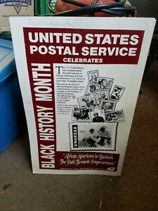 USPS United States Postal Service 1997 Black History Month Cardboard Poster