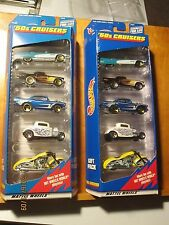 1999 Hot Wheels 50's Cruisers 5 Pack Lot of 2 T-Bird Gold Wheel Variation