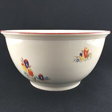 "Kitchen Kraft Large Mixing Bowl Oven Serve Tulip Pattern USA 10 1/4"" Diameter"
