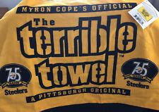 NWT Myron Cope's Pittsburgh Steelers 75th Anniversary Season Terrible Towel Rare