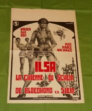 original ILSA SHE WOLF OF THE SS Belgian movie poster