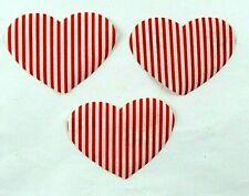 Feine Stoff-Applikation zum Aufbügeln  Bügelbild  4-121 3 Herzen
