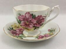 Queen Anne Fine Bone China Teacup & Saucer Floral from England