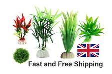 11-30 cm Artificial Plastic Plants Water Grass Leaf Fish Tank Aquarium Plant UK