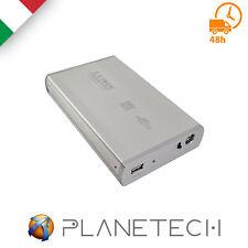 """PSP* BOX HARD DISK ESTERNO 3,5"""" POLLICI SATA USB 2.0 HDD CASE CON ALIMENTATORE"""