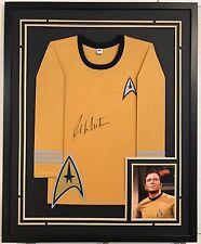 William Shatner Autographed Custom Framed Captain Kirk Star Trek Shirt 1 BAS COA
