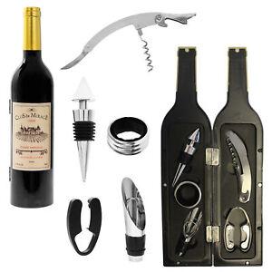 Wine Connoisseur Accessories Gift Set - Bottle Shape Box - Choose Design