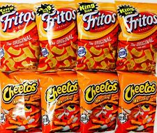 Four Frito Lay Cheetos Crunchy Cheese Bags And Four Corn Chips American Import