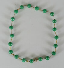 Antique / Vintage Chinese Green Peking Glass Bead Necklace