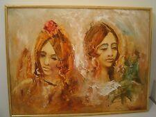 ORIGINAL OIL PAINTING BY FRANK CARMELITANO SPANISH SENORITA SPAIN WOMEN