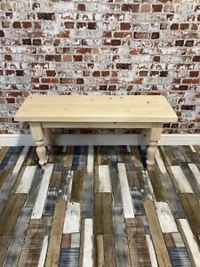 Unfinished ready to paint  Solid Wood Wooden Bench Farmhouse