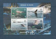 Guinée république   faune  baleines   1998  num : 1364/67   **