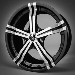 1 neue Alu OZ Power black polish 8x18, 5/112, ET48, VW Golf V EOS Passat 3C