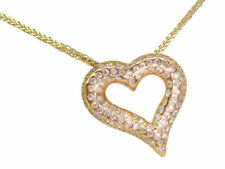 0.39ct Heart-Shaped Diamond Necklace in 18K Yellow Gold