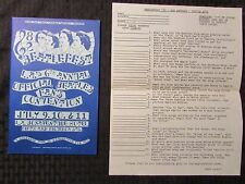 1982 BEATLEFEST Beatles Program & Trivia Quiz NM Los Angeles (A)