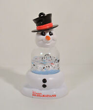 "4.25"" 101 Dalmatians Snow Water Globe Snowman Figure 1996 McDonalds Ornament"