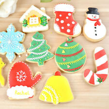 10pcs Christmas Biscuit Cookie Cutter Fondant Cake Decoration Baking Mould Tool