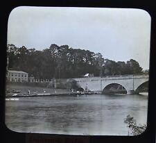 c1890s Magic Lantern Slide Photo View On The River Thames Shillingford Bridge
